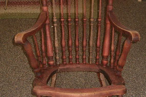 Antique Chair Refinishing Binghamton NY in Progress