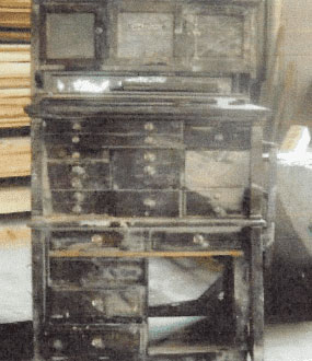 Antique Furniture Refinishing project Binghamton NY Before