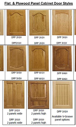Flat & Plywood Panel Kitchen Cabinet Door Styles
