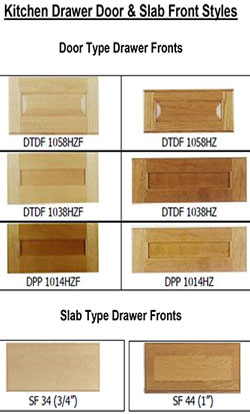 Kitchen Drawer Door & Slab Front Styles